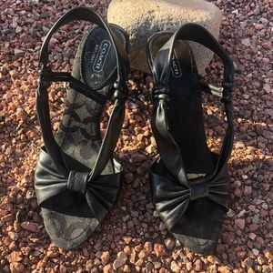 Coach Leather Strap Heels